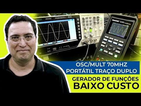 Osc/Mult 70MHz Portátil Traço Duplo - Gerador de Funções - Baixo custo