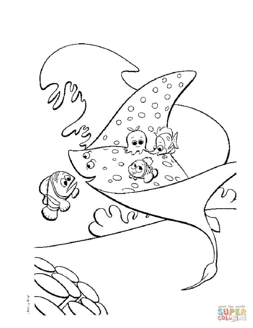 Dibujos De Buscando A Nemo Para Colorear Páginas Para Imprimir Y