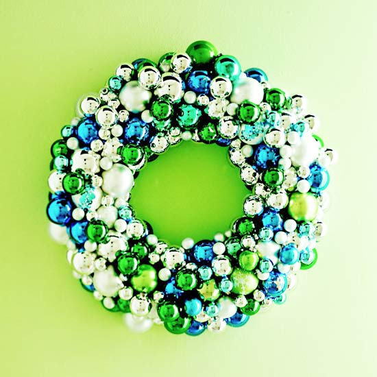 Sparkling Ornament Wreath