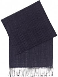 Reiss Luka Textured Check Scarf Navy