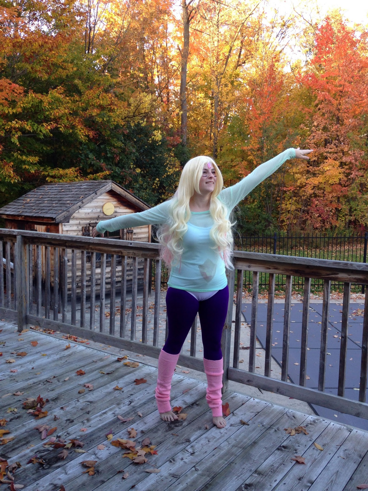 And here's some more pictures of my Rainbow Quartz cosplay