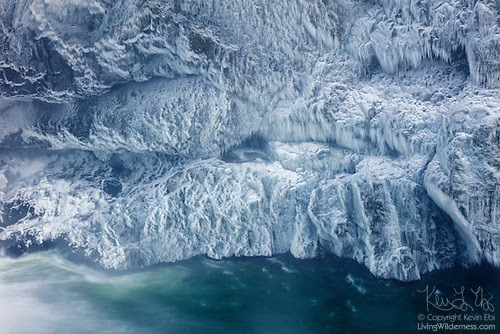Ice on Snoqualmie Gorge, Washington