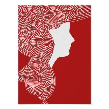 Lady Red print