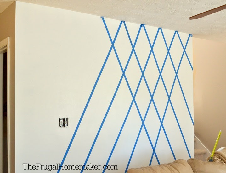 Wall Design Using Tape And Paint Decoration Ideas