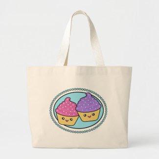 Kawaii Cupcake Friends Tote Bag bag