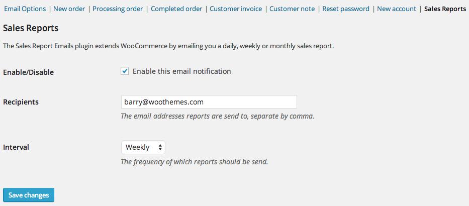 WooCommerce Sales Report Email - WooCommerce