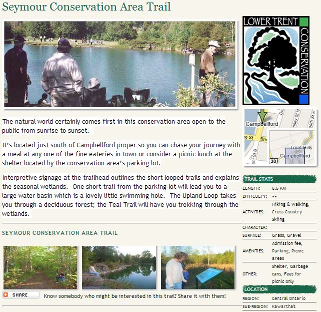 seymour conservation area trail