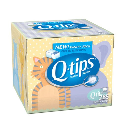 Storage Container Set Q Tips Baby Vanity 285ct Boxes