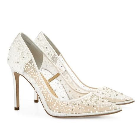 Elsa Ivory Sequin Crystal Designer Wedding Shoes   Bella