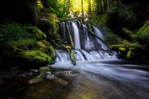 natures waterfall hd wallpaper wallpaper flare