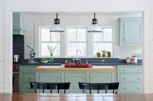 Farrow and Ball Green Blue kitchen