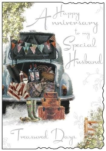 Jonny Javelin Husband Wedding Anniversary Card   Car