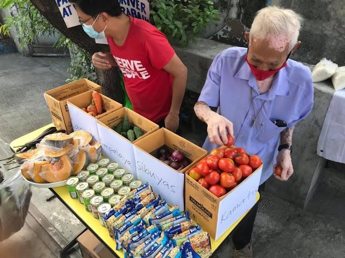 Tulong Obrero Community Pantry set up in Narra St., Quezon City