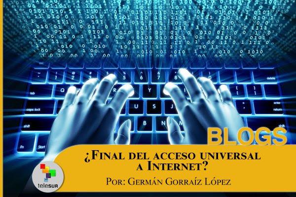 Resultado de imagen de ¿Final del acceso universal a Internet?