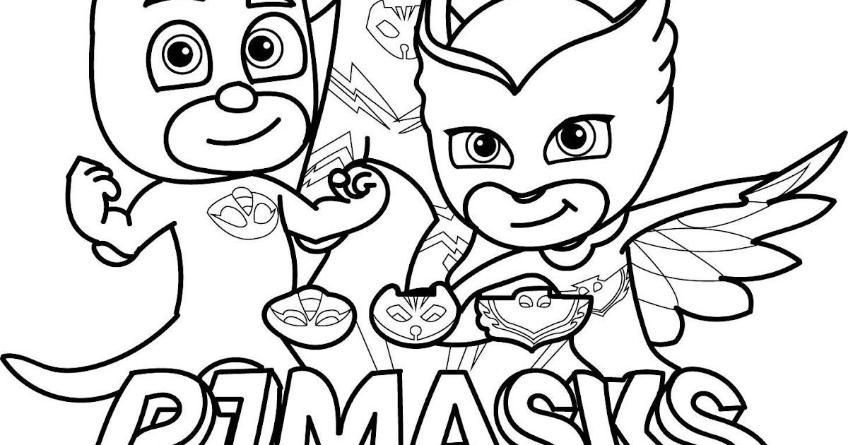 free printable pj masks halloween coloring pages