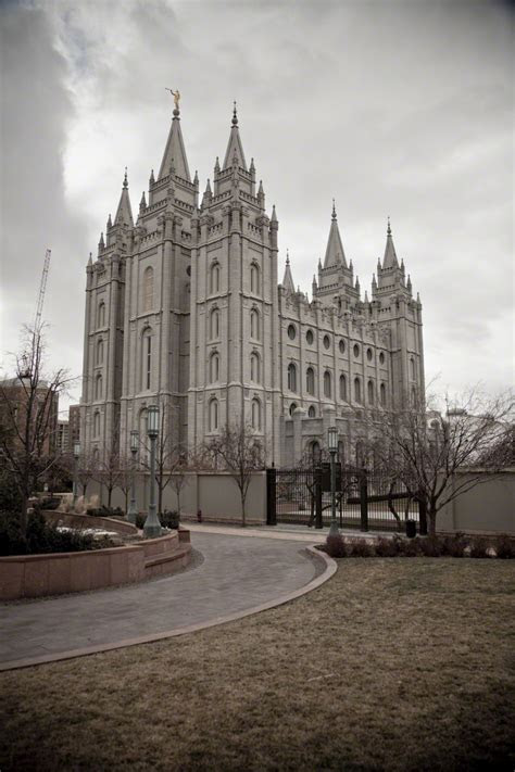 salt lake temple   winter