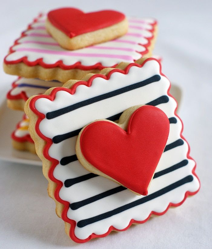 double-decker, striped Valentine cookies ... easy to make and two cookies in one! | bakeat350.net
