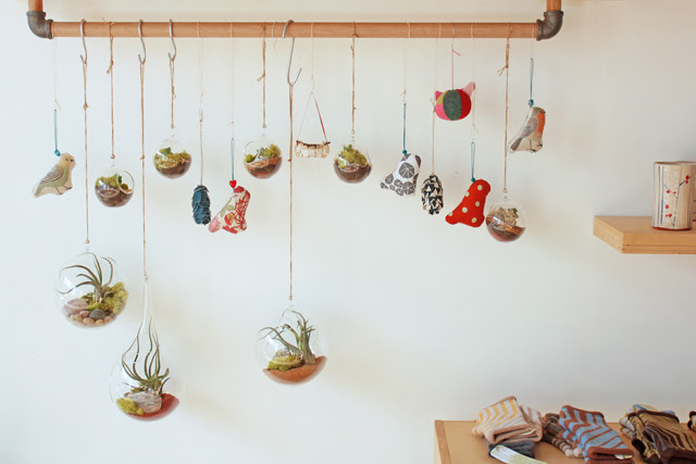 Gorgeous ornaments by Crown Flora Studio, Midori, Rusurrection Fern, Lil Fish Studios and me.