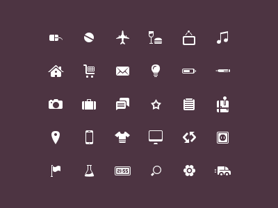 plain basic white icons freebie