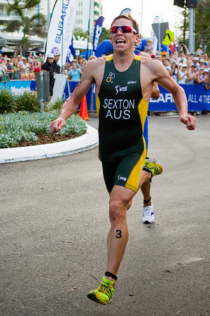 Brendan Sexton - 2011 Mooloolaba ITU World Cup Triathlon - Men. Mooloolaba Triathlon Festival, Saturday 26 March 2011, Sunshine Coast, Queensland, Australia. Photos by Des Thureson: http://disci.smugmug.com