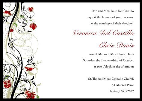 Free Wedding Invitation Template : Free Wedding Invitation