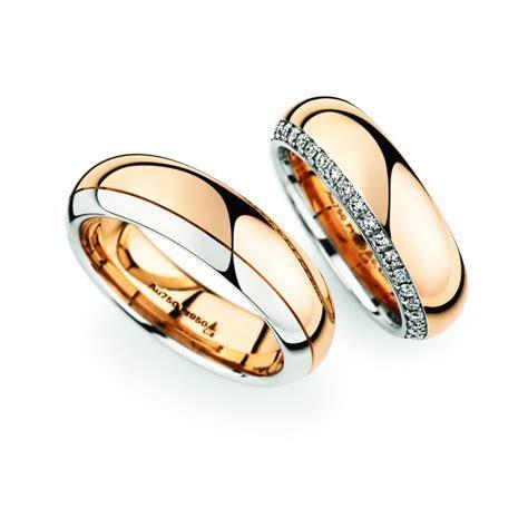Rose Gold & Platinum wedding ring pair   Christian Bauer