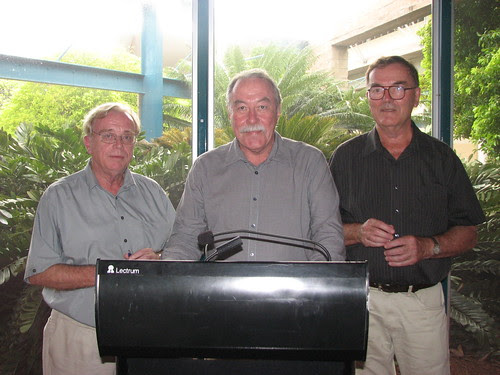 Dennis Shoesmith,Administrator of the Northern Territory, His Honour Mr Tom Pauling and Allan Powell