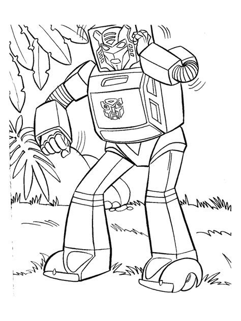 Robots In Disguise Kleurplaat Coloriage Robot Transformers 2 Sur