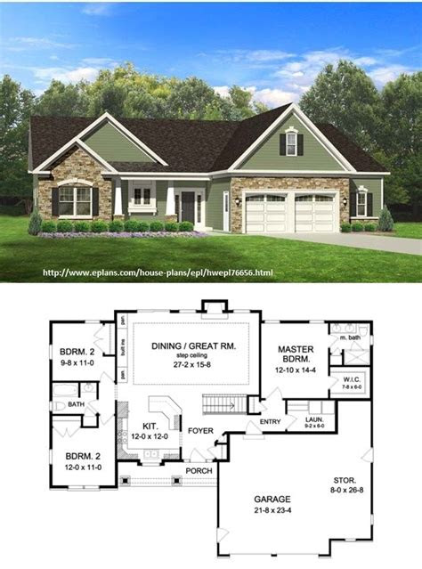 easy  build ranch house plans
