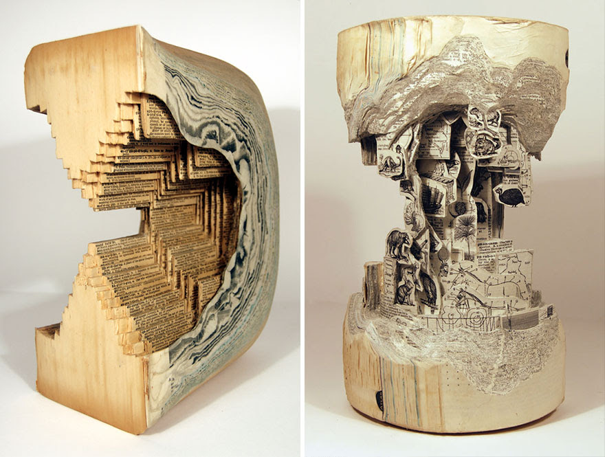 Old Books Turned Into An Interesting Piece Of Art