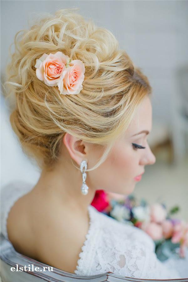 25 Romantic Long Wedding Hairstyles Using Flowers | Deer ...