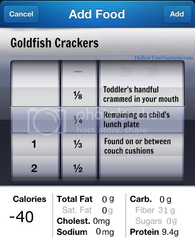 Goldfish cracker calories