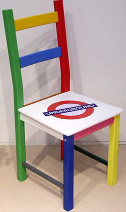 London Underground Chair for auction