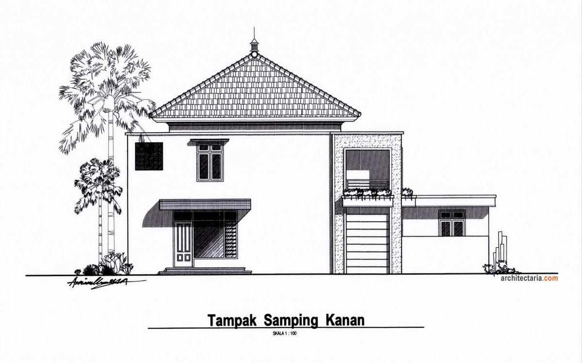 Gallery of gambar rumah minimalis pintu samping serial serials  Tampak Samping Rumah  model
