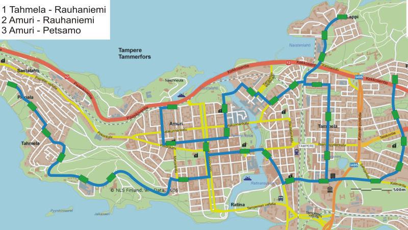 Tampereen Kaupunginosat Kartta