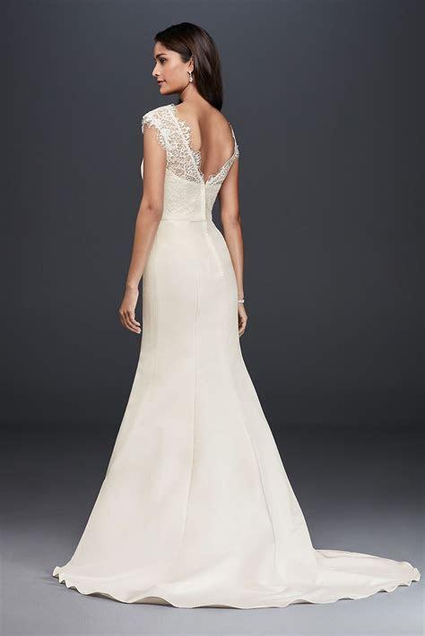 Illusion Lace and Satin Mermaid Wedding Dress David's