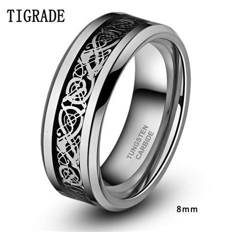 mm mm men black tungsten carbide ring wedding band