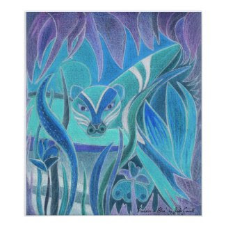 'Predator in Blue' art print large print