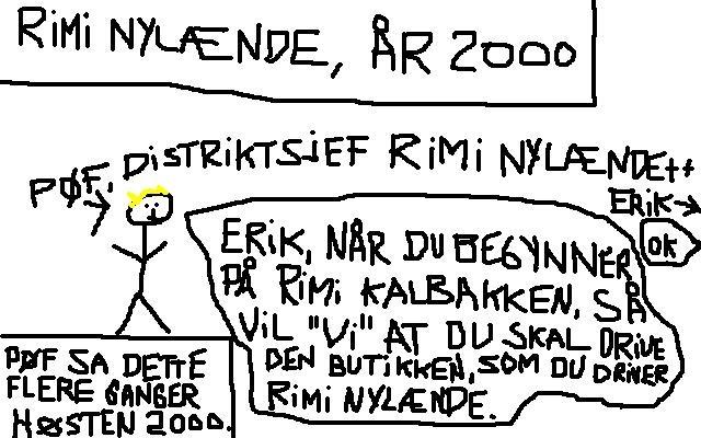 39035652 johncons: Da jeg jobba som butikksjef, på Rimi Kalbakken, så fikk jeg  kritikk for, at jeg ikke jobbet på en oppofrende nok måte, noe sånt som 60  timer i uka
