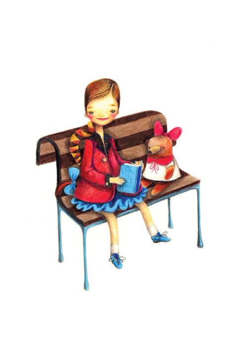 Reading stories to bear / Leyéndole cuentos a la osita (ilustración de Barbara Szepesi Szucs)