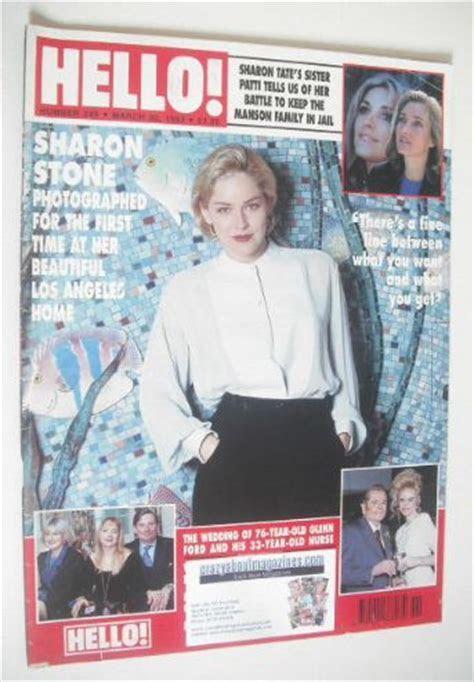 Hello! magazine   Sharon Stone cover (20 March 1993