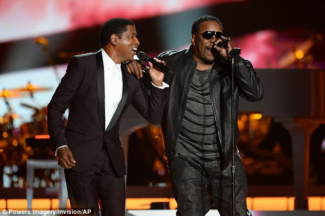 Buddy up: Kenny 'Babyface Edmonds (L) performed a duet with Bobby Brown