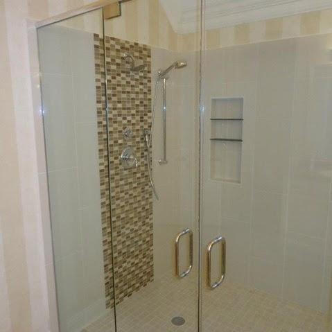 Bathroom: Fascinating Details Glass Shower Door With Metal Handles ...