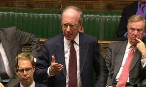 Sir Malcolm Rifkind in the House of Commons.