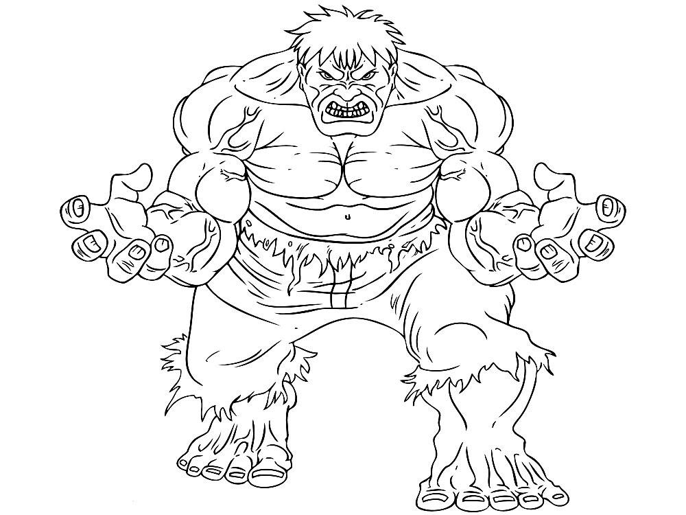Dibujos Para Colorear Hulk Para Imprimir Imagesacolorier