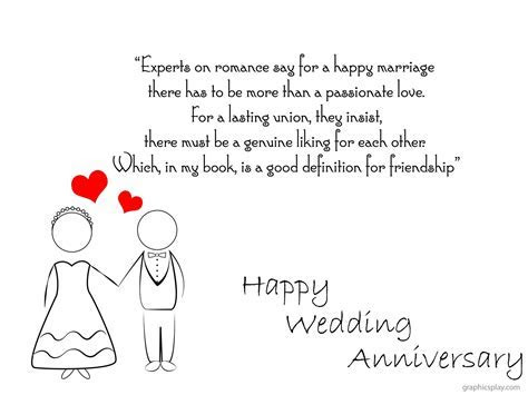 Happy Wedding Anniversary Greeting With Quotes   GraphicsPlay
