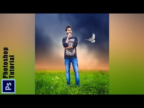 Simple Photoshop Manipulation | Blur Background With Grass and Awesome nature effects