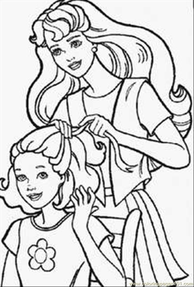 840 Top Colouring Pages Of Barbie Doll , Free HD Download