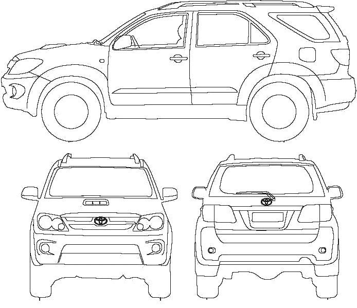 15 Trend Terbaru Sketsa Mobil Fortuner The Toosh