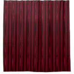 Cranberry Wine Red Stripes Shower Curtain
